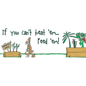 If You Can't Beat 'em Feed 'em! [Gardening T-Shirt Design]