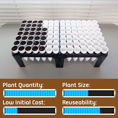 Seed Starting Options - Cone-tainer Ray Leach Tubes