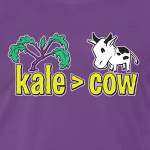 kale (is greater than) cow [Gardening T-Shirt Design]