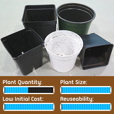 Seed Starting Options - Reclaimed Nursery Pot Containers