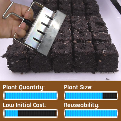 Seed Starting Options - Soil Blocker Makes Seedling Cubes