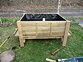 Sub-irrigated Garden Box - Dont place the overflow tube too high