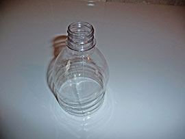 Growtainer fill tube spout made from soda bottle