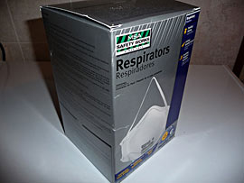 Box of respirator masks